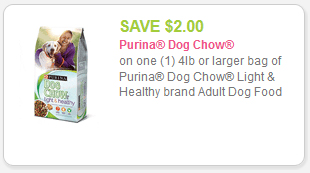 dog chow light and healthy coupon