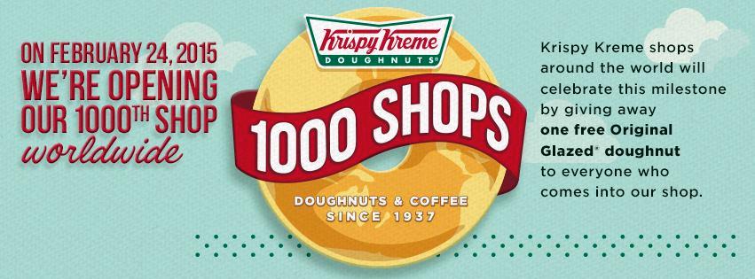 Krispy Kreme Free Donut 2.24.15