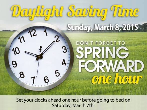 Daylight Saving Times 2015