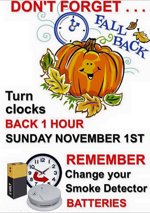 Turn back the clocks 2015