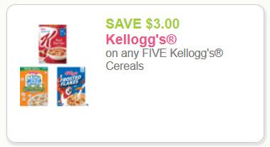 Save 3 on Kelloggs